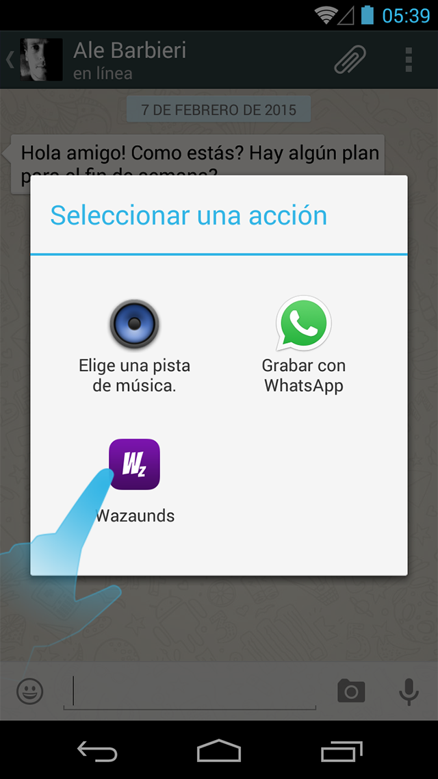 Acceso directo desde WhatsApp